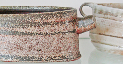Two wood-fired bowls, one by Yuri Wiedenhofer, one by Moraig McKenna